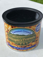 Load image into Gallery viewer, Carmel Crunch Carolina BBQ cans Gillespie's Peanuts grown on our family farm