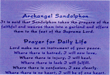 Archangel Sandolphon Prayer For Daily Life Angel Prayer Scroll Necklaces Gold Stainless Steel
