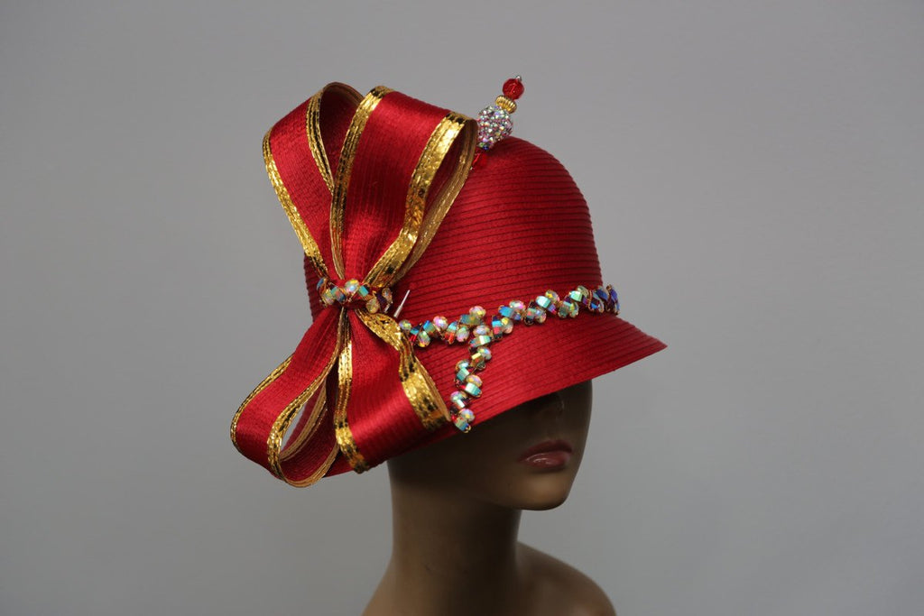 Red and Gold Cloche