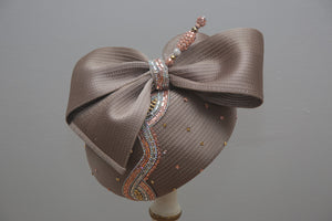 Taupe Cocktail Cap