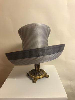 Steel Grey and Pewter Untrimmed Hat - Hats by Shellie McDowell