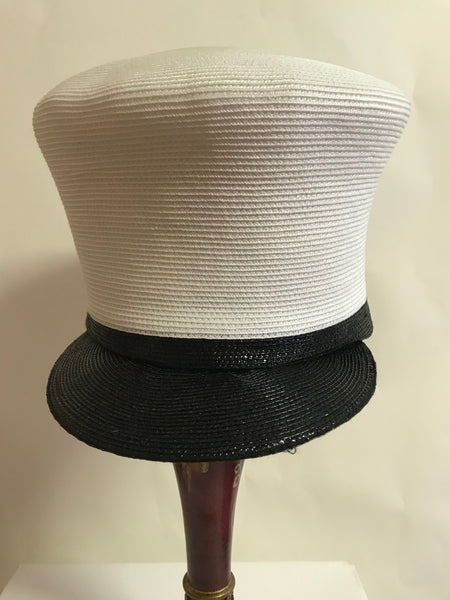 White and black summer cap