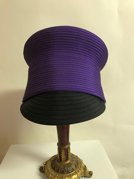 Purple and Black Cap