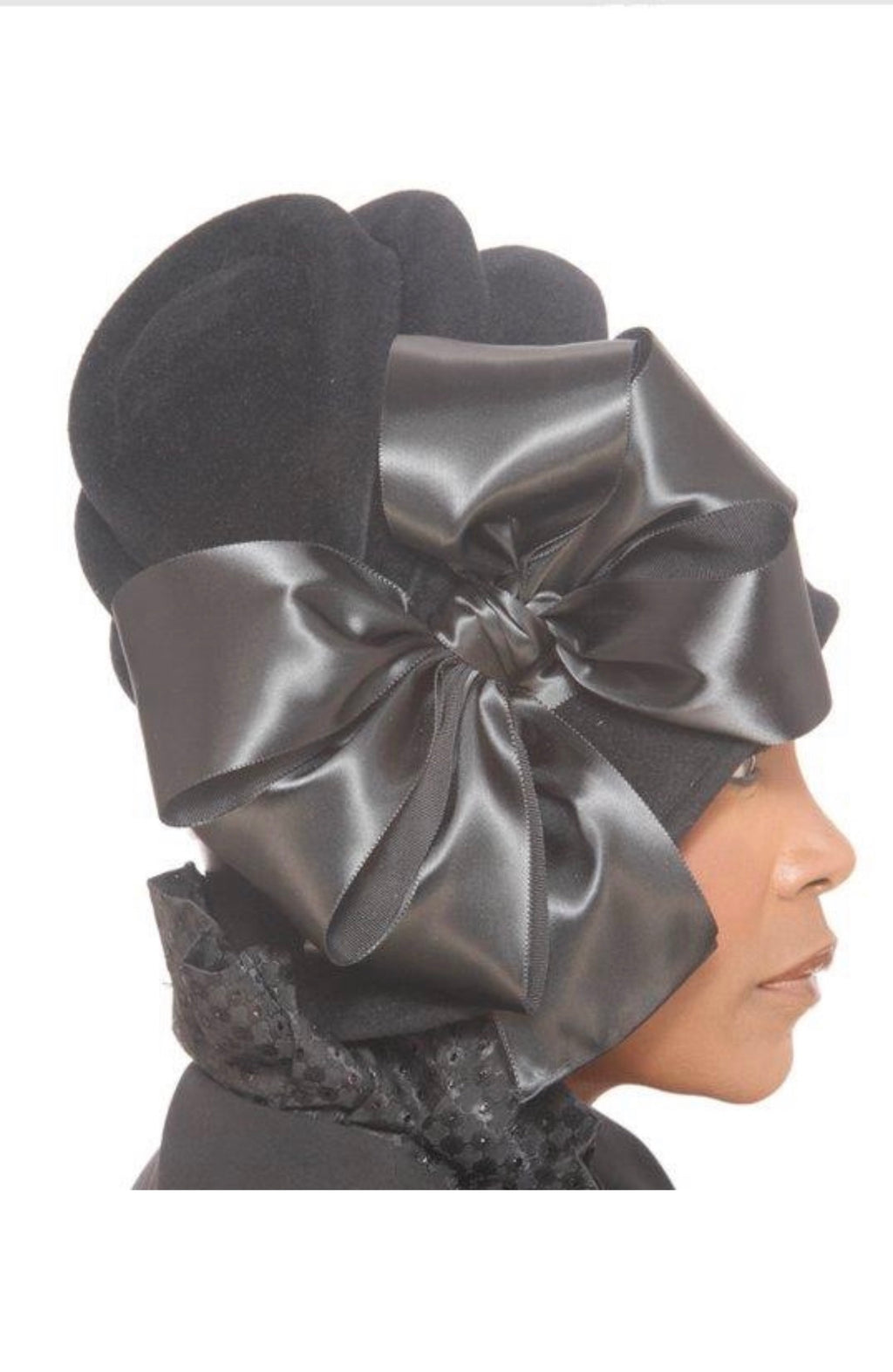 Black Assymetric Cloche - Hats by Shellie McDowell