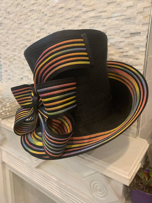 Rainbow Edge CoCo Chanel - Hats by Shellie McDowell