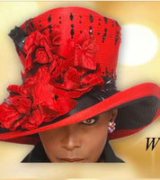Red and Black Amazing Grace. Hat W