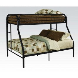 BLACK TWIN XL/QUEEN BUNK BED