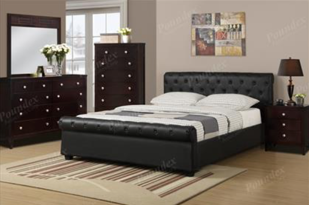 Leatherette Upholstered Bed