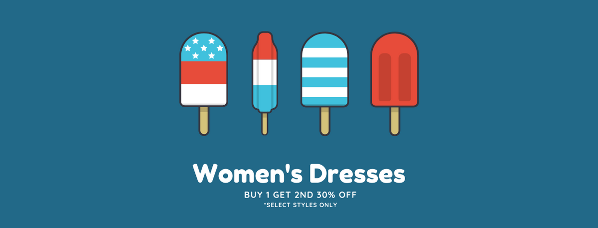 4TH OF JULY SALE - WOMEN'S DRESSES