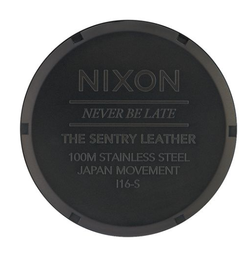 Nixon Sentry Leather All Black/Brown/Brass