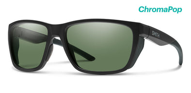 Smith Longfin ChromaPop Sunglass Matte Black/ Polarized Gray Green