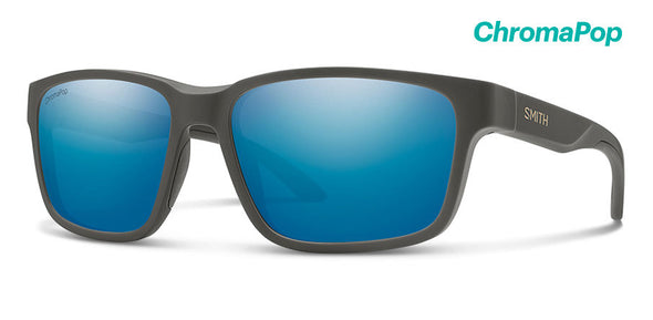 Smith Basecamp ChromaPop Matte Gravy/ Polarized Blue Mirror