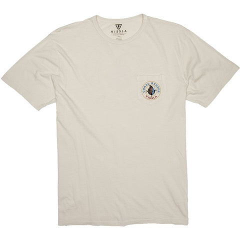 Vissla Coral Reefer Vintage Wash Pocket Tee Bone