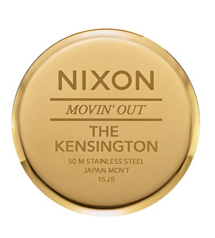 Nixon Kensington Leather Gold/Black