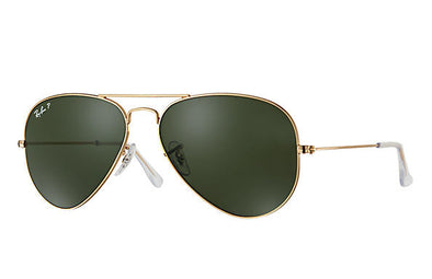 Ray Ban Aviator Classic Polarized Gold/G-15