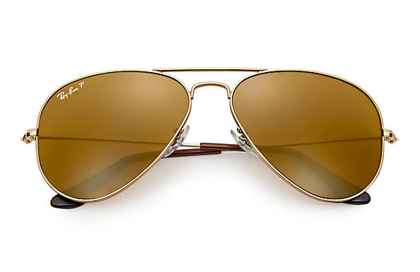 Ray Ban Aviator Classic Polarized Gold/Brown