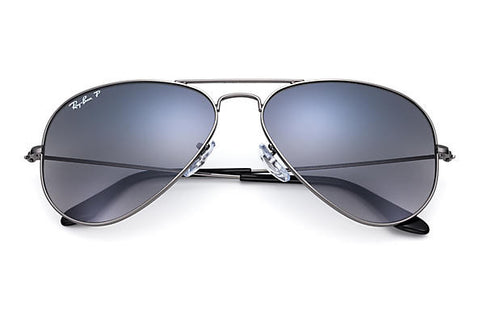 Ray Ban Aviator Gradient Gunmetal Polarized