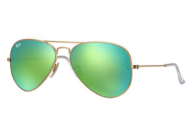 Ray Ban Aviator Flash Gold/Green