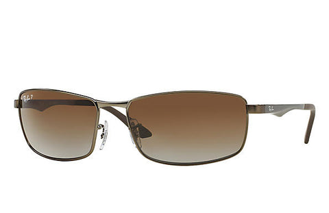 RB3498 Polarized Gunmetal/Brown