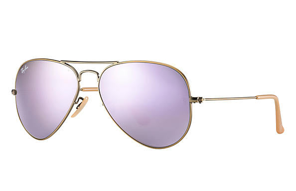 Ray Ban Aviator Flash Gold/Lilac