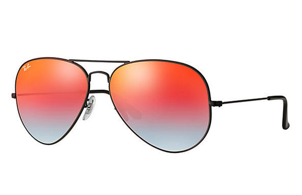 Ray Ban Aviator Flash Black/Orange