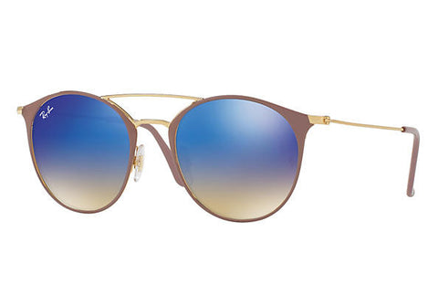 Ray Ban Light Brown/Blue Flash