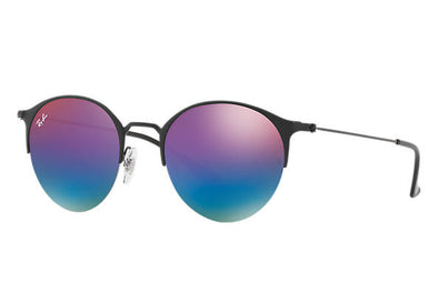 Ray Ban Black/Blue-Violet Mirror