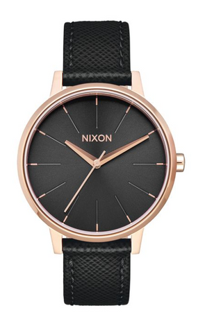 Nixon Kensington Leather Rose Gold/Black