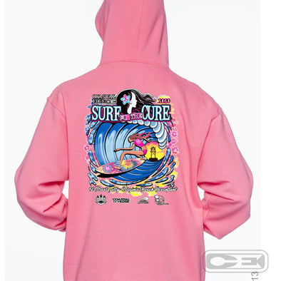 Coastal Edge 2020 Surf for the Cure Hooded Fleece Pink