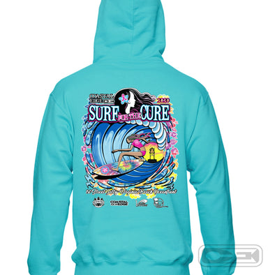 Coastal Edge 2020 Surf for the Cure Hooded Fleece Scuba Blue