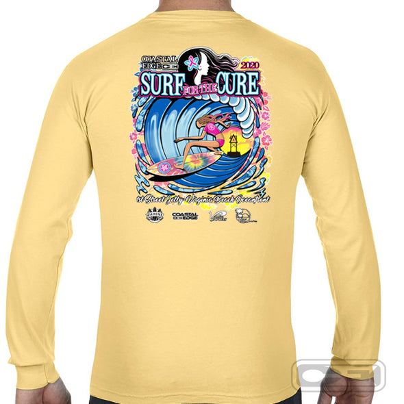 Coastal Edge 2020 Surf for the Cure LS T-Shirt Butter