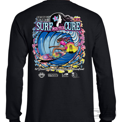 Coastal Edge 2020 Surf for the Cure LS T-Shirt Black