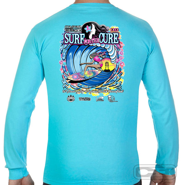 Coastal Edge 2020 Surf for the Cure LS T-Shirt Lagoon