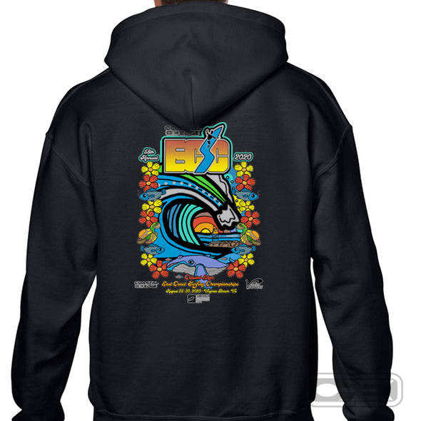 Coastal Edge East Coast Surfing Championship 2020 Fleece Hoodie Black