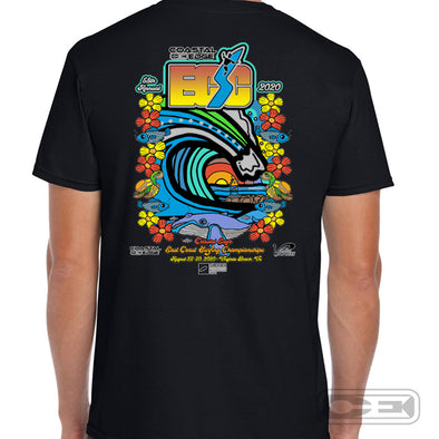 Coastal Edge East Coast Surfing Championship 2020 S/S T-Shirt Black