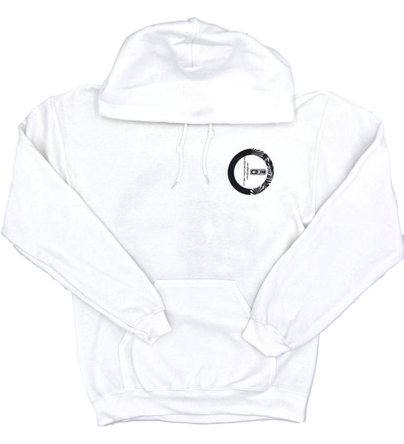 Coastal Edge Forest Hooded Sweatshirt - White