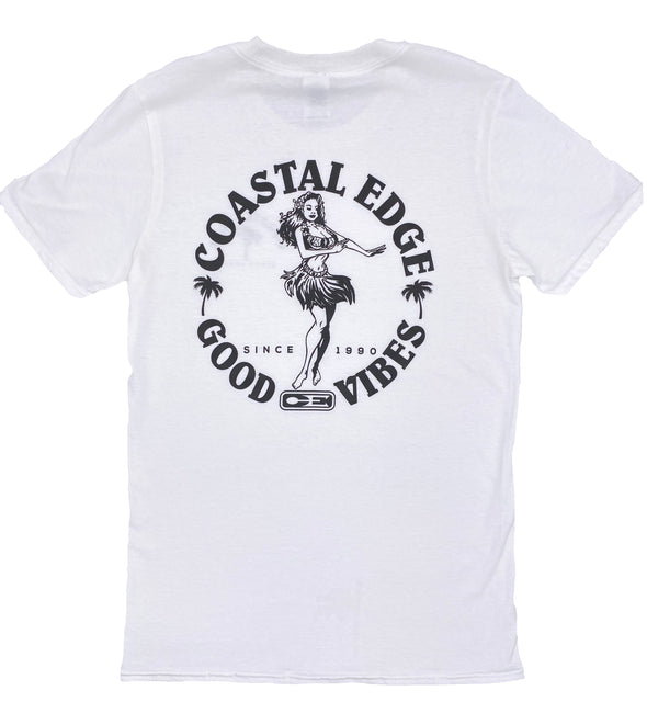 Coastal Edge Hula Vibes SS T-Shirt - White