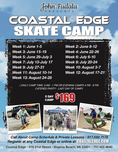 Coastal Edge Evening Skate Camp presented by John Fudala