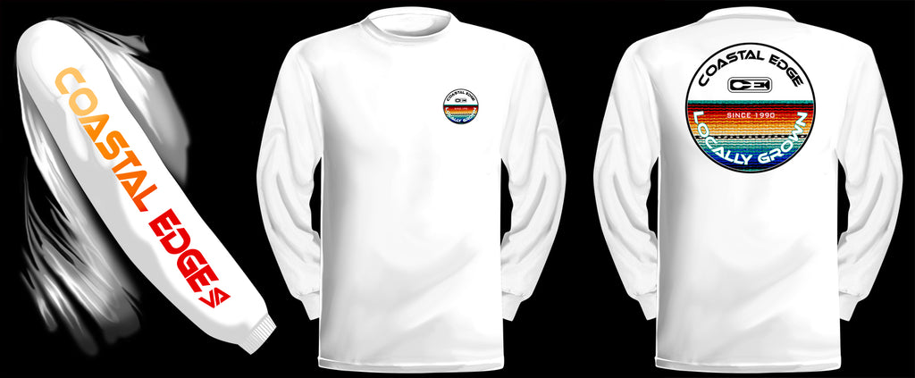 Coastal Edge Baja Blanket Long Sleeve T-Shirt White