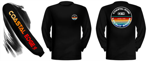 Coastal Edge Baja Blanket Long Sleeve T-Shirt Black