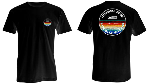 Coastal Edge Baja Blanket Short Sleeve T-Shirt Black