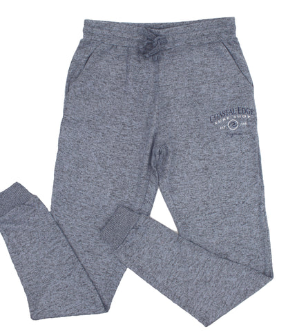 Coastal Edge Circle Wave Fleece Pant Heather Blue
