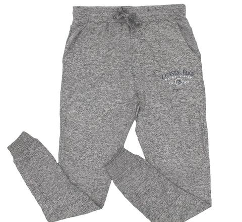 Coastal Edge Circle Wave Fleece Pant Heather Grey