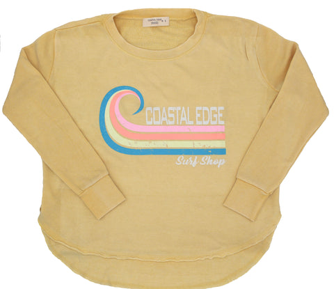 Coastal Edge Curl Women's Crew Fleece Butter