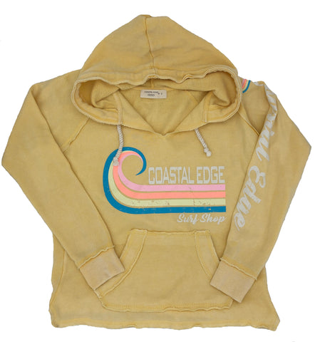 Coastal Edge Curl Women's Hooded Fleece Butter