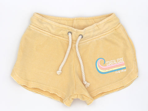 Coastal Edge Curl Women's Fleece Short Butter