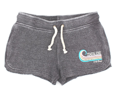 Coastal Edge Curl Women's Fleece Short Grey