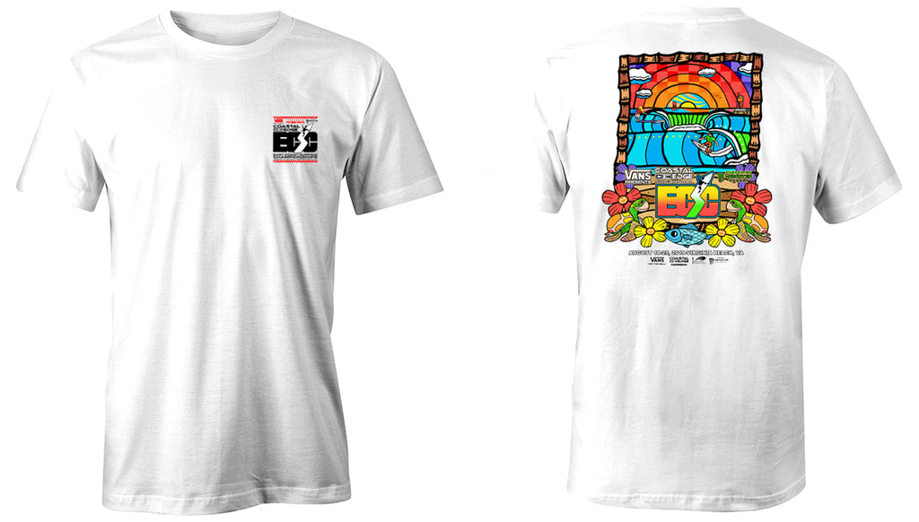 Vans presents the Coastal Edge East Coast Surfing Championship 57th Annual 2019 S/S T-Shirt White