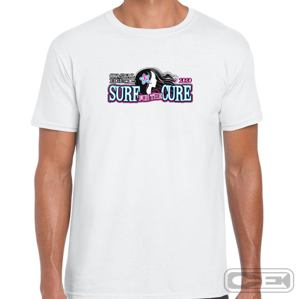 Coastal Edge 2020 Surf for the Cure SS T-Shirt White