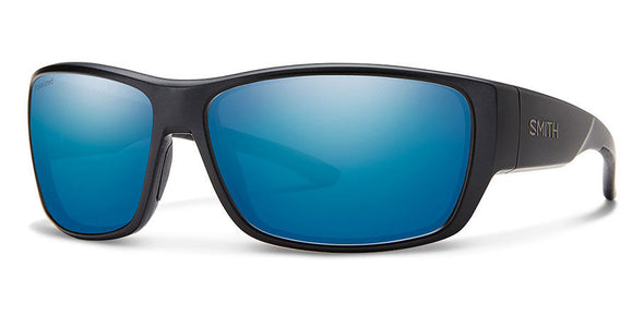 Smith Forge Sunglass Matte Black/ Polarized Blue Mirror